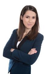 Portrait einer jungen Frau, die Karriere macht