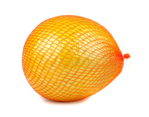 Wrapped in plastic reticle ripe pomelo