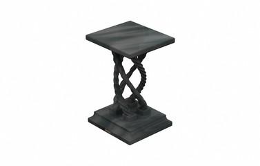 Steinsockel - verdreht,dunkel, 4 Beine,iso