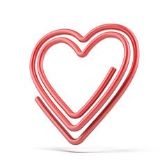 heart paper-clip