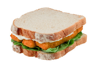 Fish Finger Sandwich isolated