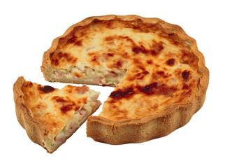 Savoury pie isolated