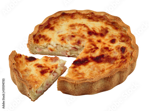 Savoury pie isolated