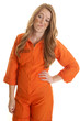 Woman inmate dirty funny face