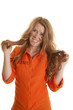 Woman inmate dirty hold hair