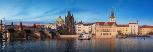 canvas print picture Charles Bridge in the Prague