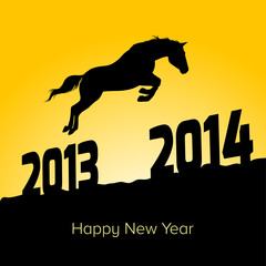 year of 2014 and horse