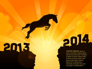 horse jumps 2013 to 2014 - 2014 is the year of horse