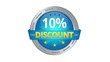 Blue Animated 10 percent discount icon