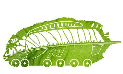 Green Euro train