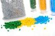 Haufen buntes Masterbatch Kunststoffgranulat