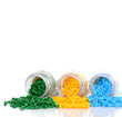 Buntes Masterbatch in Glasröhren Kunststoffgranulat