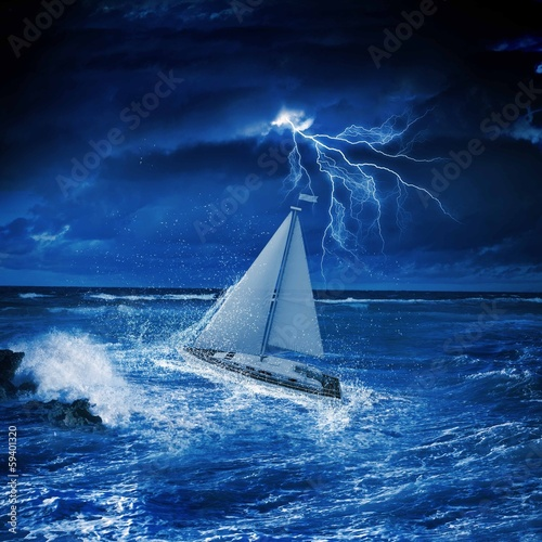 Deurstickers Zeilen Yachting sport