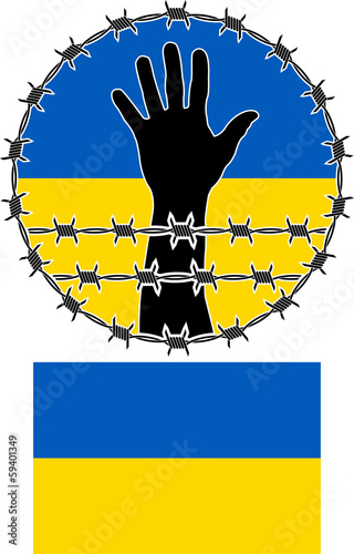 violation of human rights in ukraine. vector illustration