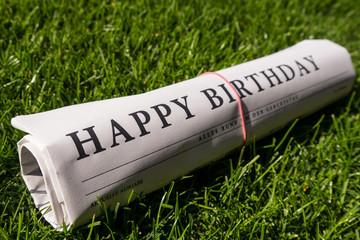 happy birthday zeitung