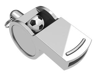 Die Fußball-Trillerpfeife
