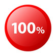 bouton internet 100% hundred icon red