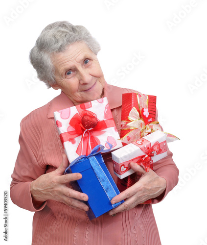 grandmother with gifts