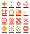 Flat geometric business symbols. Icon set