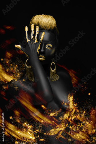fiery black woman