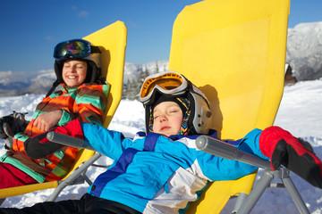 Winter, ski, sun and fun.