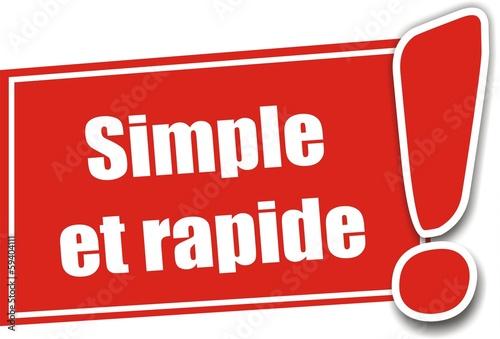 étiquette simple et rapide