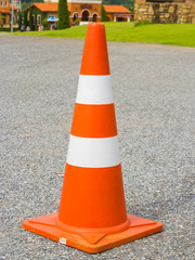 traffic cone in row