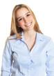 Portrait einer jungen Frau mit langen blonden Haaren