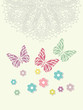 Beautiful baby vintage greeting card vector