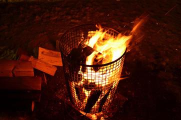 Lagerfeuer Feuerkorb