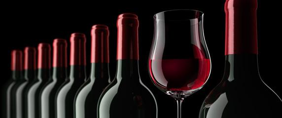 Weinflaschenreihe 2
