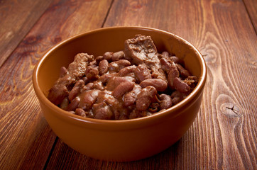 bowl of boston baked beans