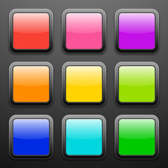 Background for the app icons - glass set