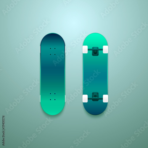 Set of vector skateboards