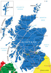 Scotland map