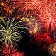 Spektakuläres Feuerwerk