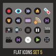 Flat icons set 5
