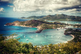 Fototapety Falmouth bay - View from Shirley Heigths, Antigua