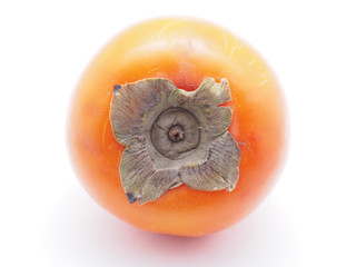 persimmon on a white background