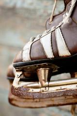 vintage pair of mens  ice skates