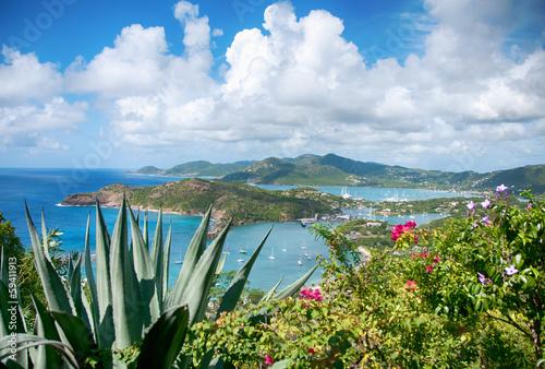 Fotobehang Caraïben Falmouth bay - View from Shirley Heigths, Antigua