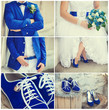 wedding theme collage with beautiful blue theme