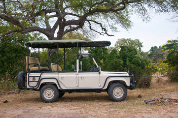 safari car parking in the national park selous game reserve