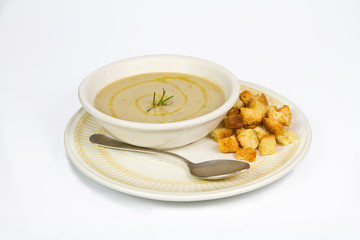 Soup of chickpeas and chestnuts