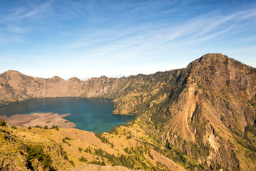 Lake in Mt Rinjani's caldera