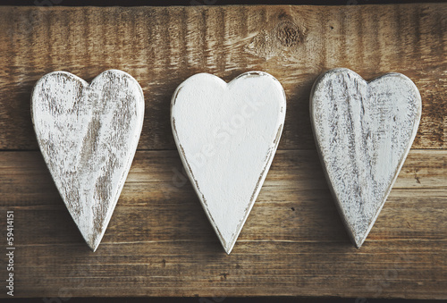 Heart shaped decoration over