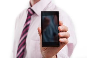 Elegant smartphone presentation