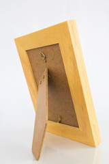 Tabletop picture frame on white background