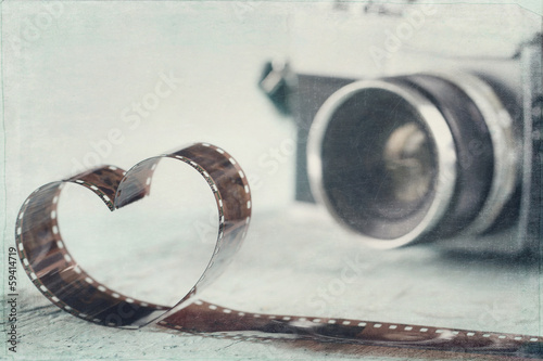 Heart shaped from film negative - 59414719
