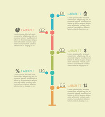 Infographic timeline chart elements